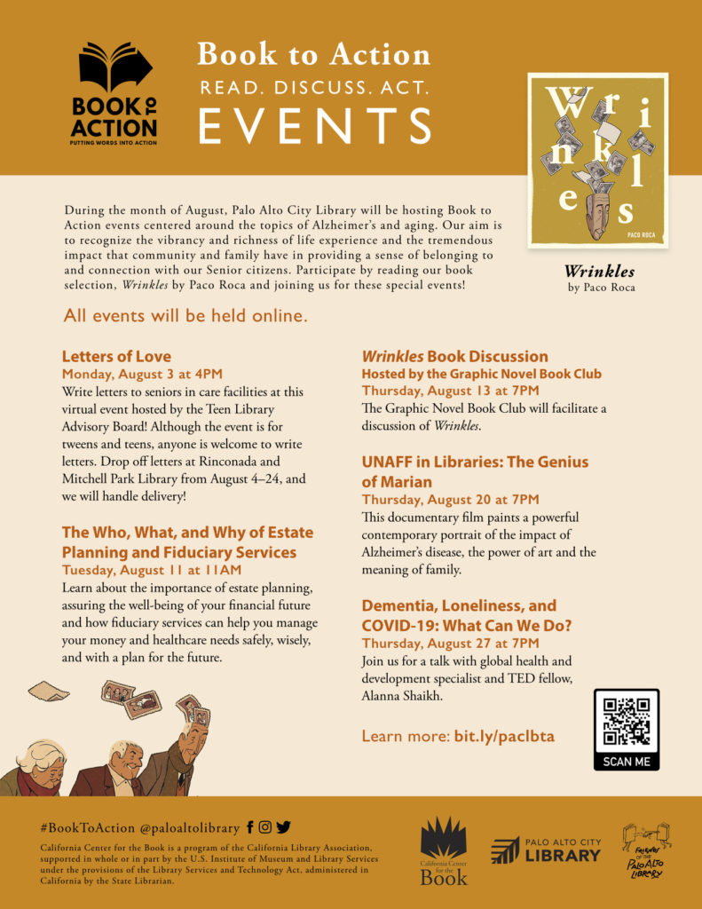 2020 Book to Action Schedule Palo Alto Library