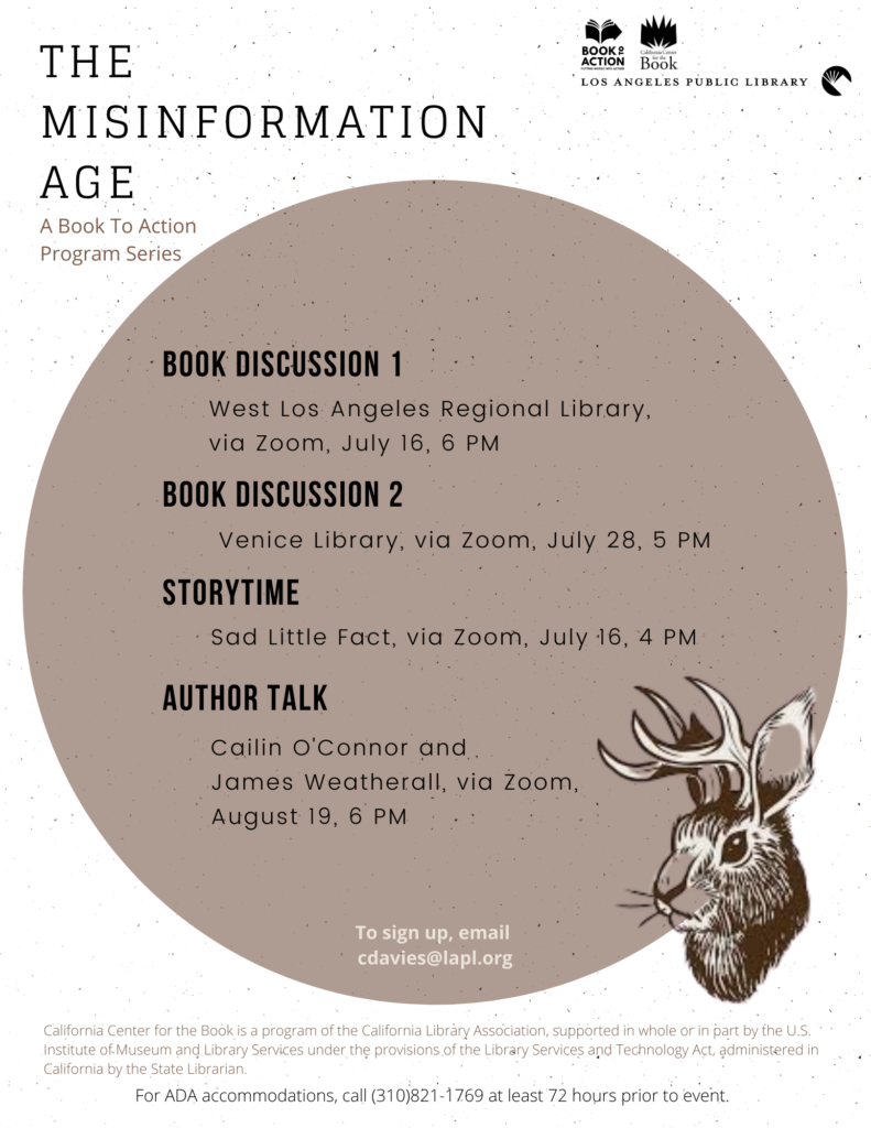 Book to Action 2020, LAPL - The Misinformation Age