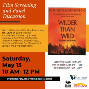 Book to Action 2021 Whittier Wilder than Wild cover